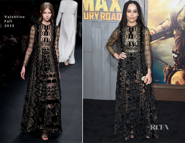 Zoe Kravitz In Valentino - 'Mad Max Fury Road' LA Premiere