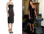 Adriana Lima's Marc Jacobs Cross-Strap Pencil Dress