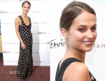 Alicia Vikander In Louis Vuitton - 'Testament Of Youth' New York Premiere