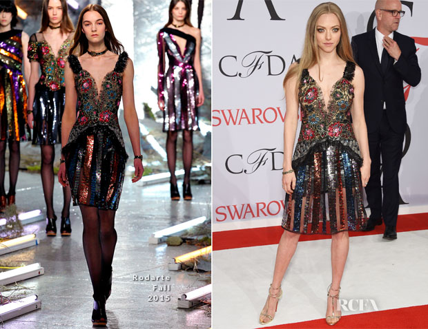Amanda Seyfried In Rodarte - 2015 CFDA Fashion Awards