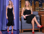 Amber Heard In Dolce & Gabbana - The Tonight Show Starring Jimmy Fallon