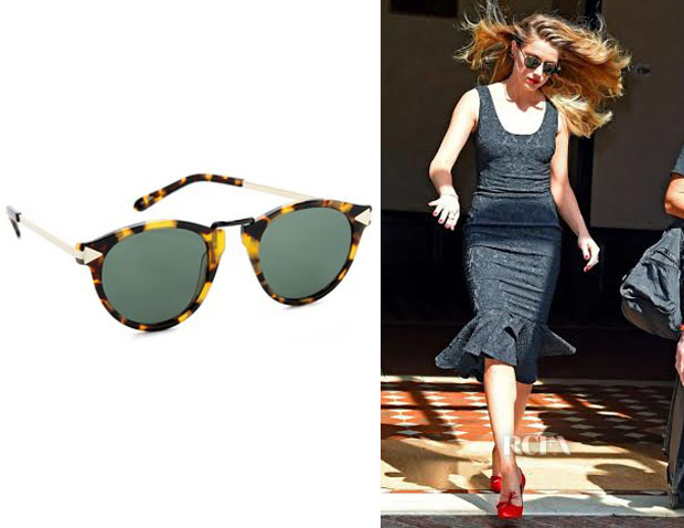 Amber Heard's Karen Walker 'Helter Skelter' Sunglasses