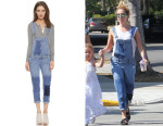 Ashley Tisdale's Paige Denim 'Sierra' Overalls