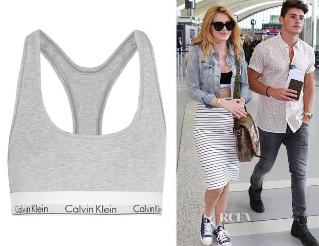 Bella Thorne's Calvin Klein Racerback Bralette