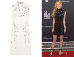 Bella Thorne's Mugler Eyelet-Embellished Mini Dress