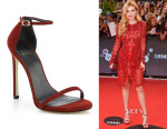 Bella Thorne's Stuart Weitzman 'Nudist' Suede Sandals