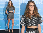 Cara Delevingne In Vatanika - 'Paper Towns' ('Ciudades de Papel') Madrid Photocall