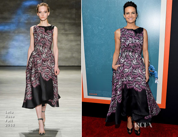 Carla Gugino In Lela Rose - 'Me and Earl and the Dying Girl' LA Premiere