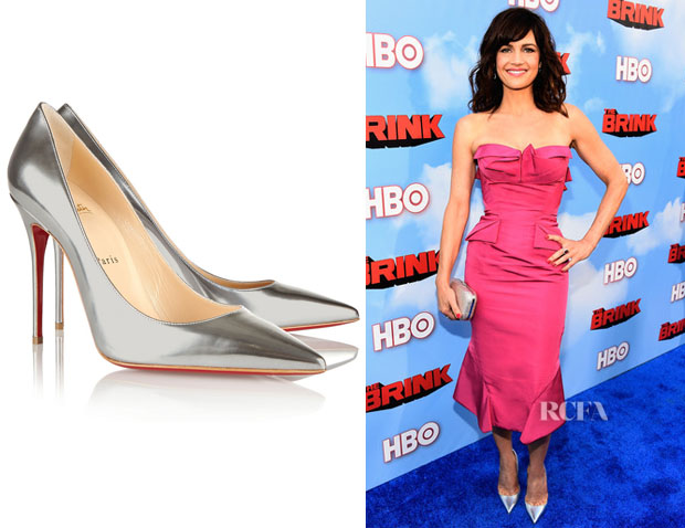 Carla Gugino's Christian Louboutin 'So Kate' Metallic Pumps