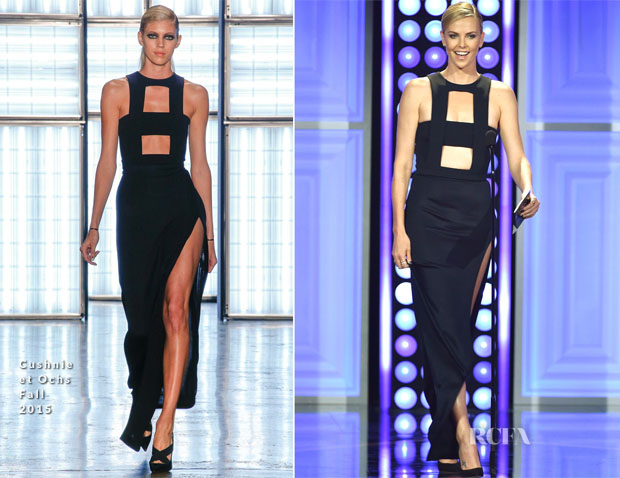 Charlize Theron In Cushnie et Ochs  - 2015 Critics' Choice Television Awards