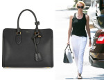 Charlize Theron's Alexander McQueen 'The Heroine' Textured-Leather Tote