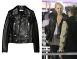 Charlize Theron's Saint Laurent Leather Biker Jacket