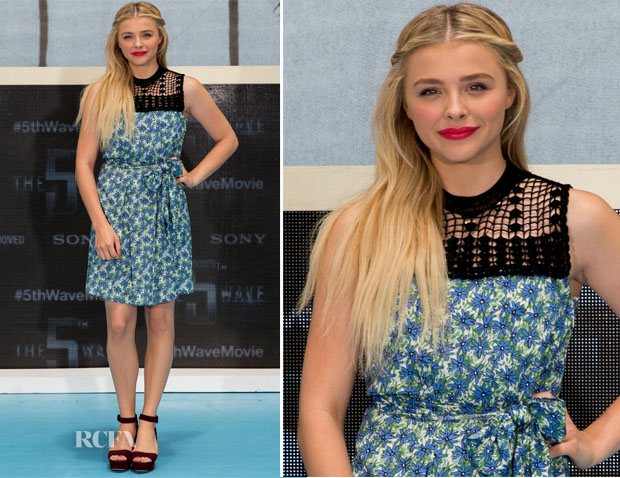 Chloe Grace Moretz In Miu Miu - 'The 5th Wave'  Cancun Photocall