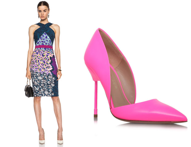 Cindy Crawford Peter Pilotto & Kurt Geiger Bond pumps