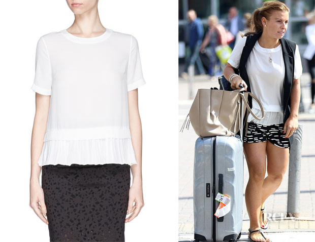 Coleen Rooney's Elizabeth and James 'Tierney' Pleat Hem Top