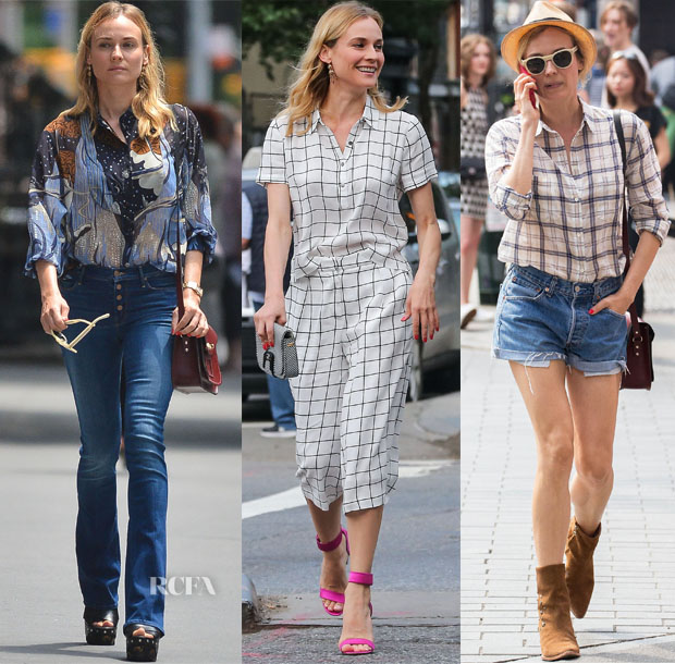 Diane Kruger In Gucci, Forever21 & Madewell - Out in New York