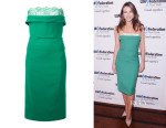Elizabeth Hurley's Dsquared² Lace Detail Strapless Dress