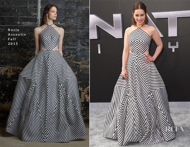 Emilia Clarke In Rosie Assoulin - 'Terminator Genisys' LA Premiere