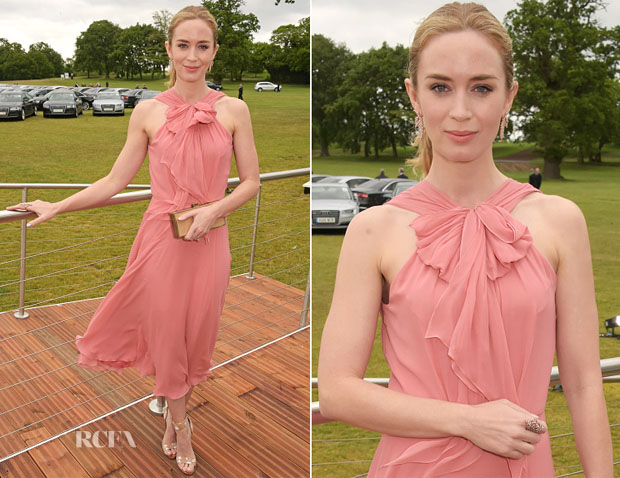 Emily Blunt In Jenny Packham - 8th Annual Veuve Clicquot Polo Classic