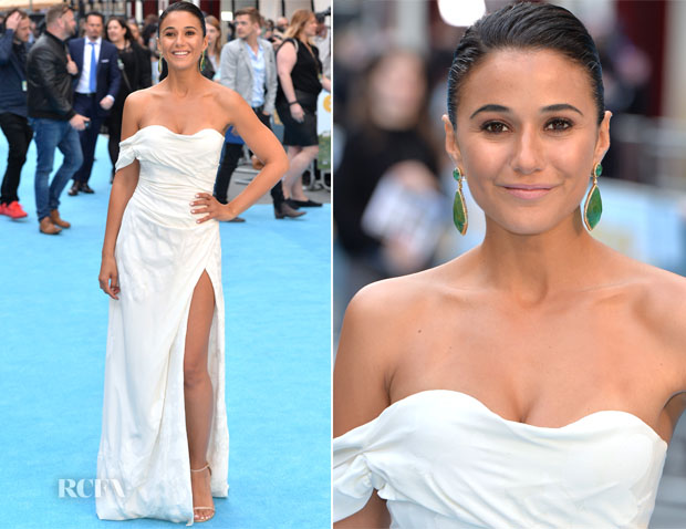 Emmanuelle Chriqui In Vivienne Westwood - 'Entourage' London Premiere