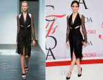Emmy Rossum In Dion Lee - 2015 CFDA Fashion Awards