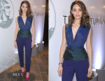 Emmy Rossum In Vionnet - American Express Celebrates The Opening Of The Centurion Lounge