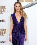 Amber Heard in Monique Lhuillier