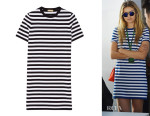 Gigi Hadid's Michael Kors Striped Cotton-Jersey Dress