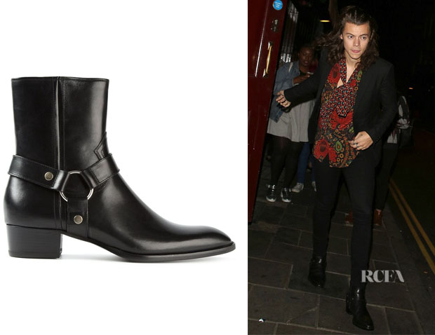 Harry Styles' Saint Laurent 'Wyatt' Ankle Boots
