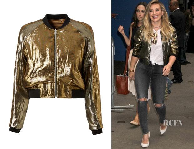 Hilary Duff's Faith Connexion Metallic Bomber Jacket