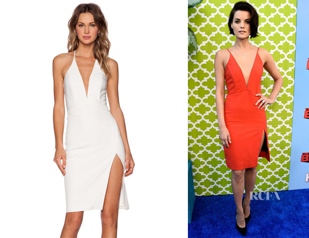 Jaimie Alexander's Mason by Michelle Mason Deep V Dress