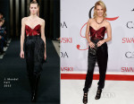 January Jones In J Mendel - 2015 CFDA Fashion Awards