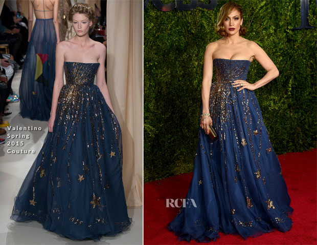 Jennifer Lopez In Valentino Couture - 2015 Tony Awards