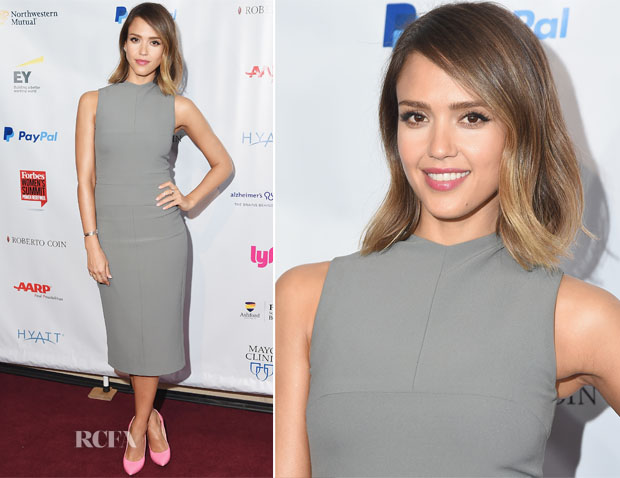 Jessica Alba In Narciso Rodriguez - 2015 Forbes Women's Summit Transforming The Rules Of Engagement