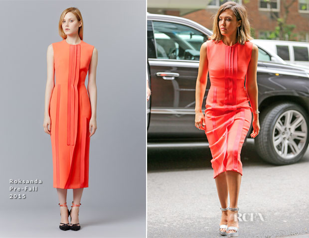 Jessica Alba In Roksanda - Out In New York