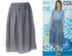 Jessica Alba's Michael Kors Diamond Check Cut-Out Skirt