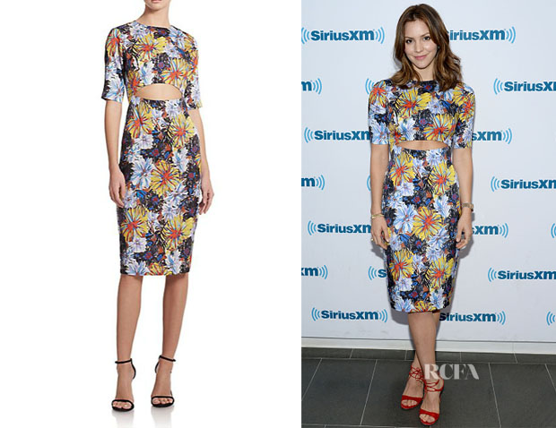 Katharine McPhee's Suno Cutout Floral Dress