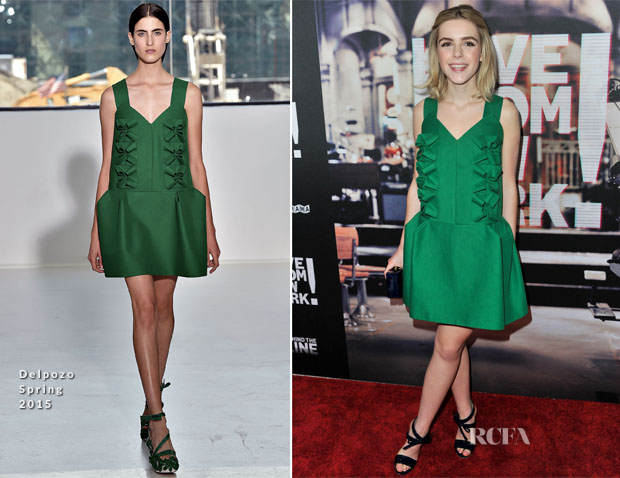 Kiernan Shipka In Delpozo -  'Live From New York' LA Premiere