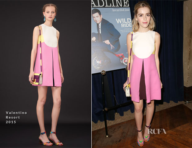 Kiernan Shipka In Valentino - Deadline Hollywood's 2015 Emmy Party