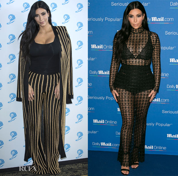 Kim Kardashian In Balmain &  LaQuan Smith - Cannes Lions International Festival of Creativity