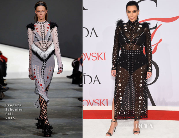 Kim Kardashian In Proenza Schouler - 2015 CFDA Fashion Awards