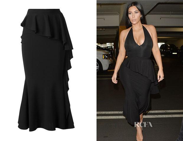 Kim Kardashian's Givenchy Long Ruffled Skirt