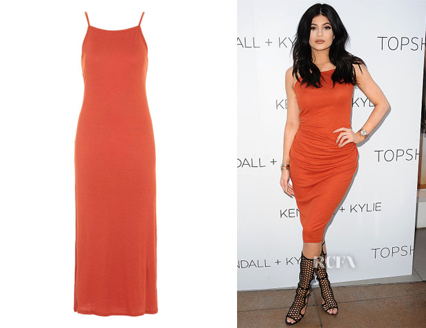 Kylie Jenner's Topshop Square Neck Ribbed Maxi Dress
