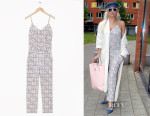 Lady Gaga's & Other Stories Porcelain Print Jumpsuit