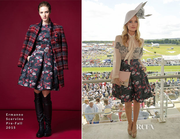 Laura Whitmore In Ermanno Scervino -  Investec Derby Festival Derby Day