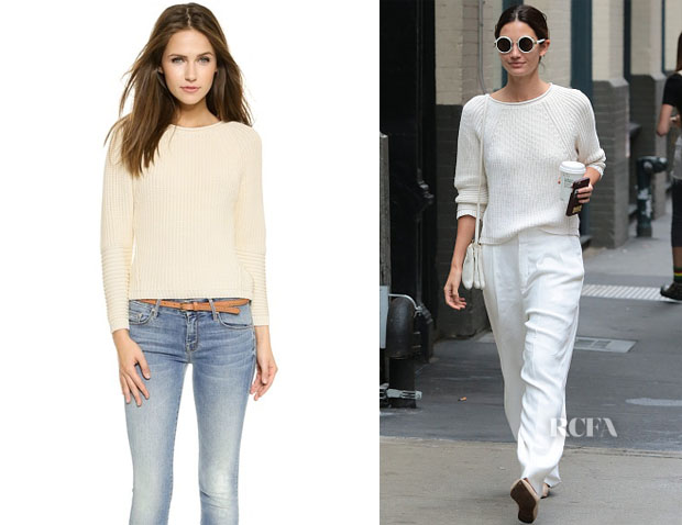 Lily Aldridge's J Brand 'Reese' Sweater