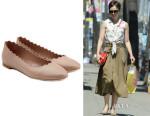Lily Collins' Chloé 'Lauren' Scallop Flats