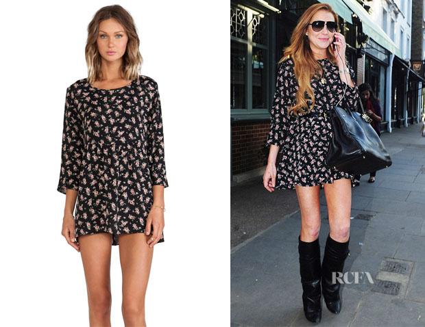 Lindsay Lohan's Lisakai 'I Floral' Dress