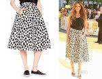 Maria Menounos' Kate Spade New York Madison Ave. Collection Wild Dots Tansy Skirt