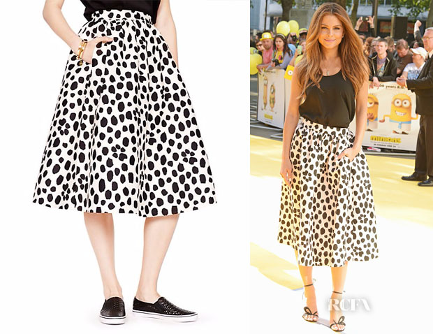 Maria Menounos' Kate Spade New York Madison Ave Collection Wild Dots Tansy Skirt
